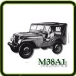 Exhaust category  G503 Army Jeep Parts for  M38A1 Military Jeeps