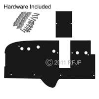 MB GPW, MB GPW PartsFirewall padding kit till end 1943 MB, All GPW's -A3132 01,MB,GPW,A3132 01 Jeep G503 RFJP VintageJeeps