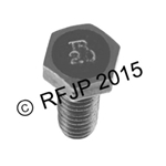 G503,Army Jeep, Military Jeep, Military, WWII, Post War, Willys, Ford, CJ,MB,GPW,M38 ,Bolt 5/16 -18 X 3/4 -51523 TR
