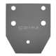 MB GPW, MB GPW PartsPintle rear reinforcement plate external -A534,MB,GPW,A534 Jeep G503 RFJP VintageJeeps